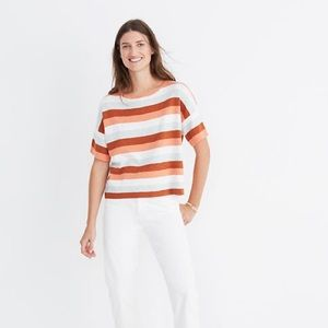 Madewell Boxy Sweater Tee In Maggie Stripe